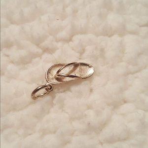Silver Flip Flop Pendant